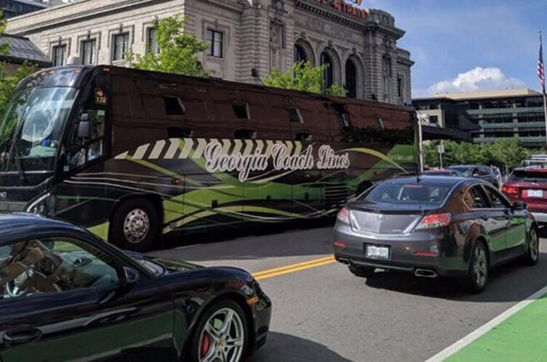 Georgia Coach Lines bus on a street